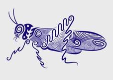 Saltamontes decorativo Foto de archivo libre de regalías