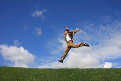 Saltando ai succes? Fotografia Stock Libera da Diritti