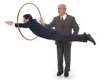 Saltando attraverso i cerchi Fotografia Stock Libera da Diritti