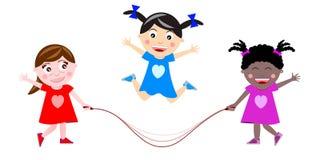 Saltando a bandeira da corda Imagens de Stock Royalty Free