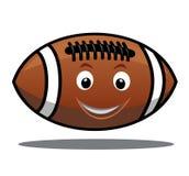 Saltando a bola do futebol americano ilustração do vetor