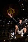 Saltando in Buzludja Fotografia Stock