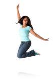 Saltando dalla felicità Fotografia Stock Libera da Diritti