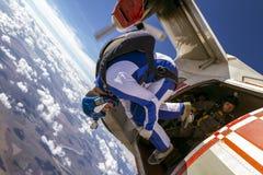 Saltando em queda livre a foto. Imagens de Stock Royalty Free