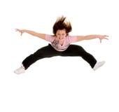 Saltando per il danzatore di gioia Immagini Stock