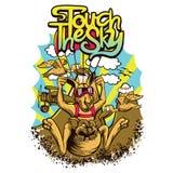 Saltar em queda livre o canguru Imagem de Stock Royalty Free