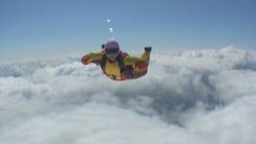 Saltar en caída libre el vídeo. almacen de video