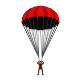Saltar en caída libre la escuela, ejemplo de la academia Paracaidista, deporte extremo libre illustration