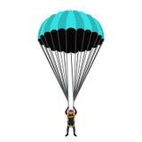 Saltar en caída libre la escuela, sistema de la academia Paquete de paracaídas, skydiver en plano libre illustration