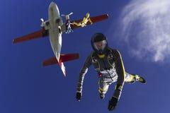 Saltar en caída libre la foto. Foto de archivo libre de regalías