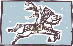 Saltare del cavallo del circo Fotografia Stock Libera da Diritti
