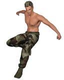 Saltare del soldato Immagine Stock
