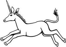 Saltare unicorno Fotografia Stock