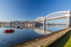 Saltash-Durchgang Plymouth Devon lizenzfreies stockfoto