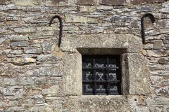 United Kingdom. Saltash England, UK - August 21, 2015: An old window Cotehele park, near Saltash, Cornwall, England, United Kingdom royalty free stock photography