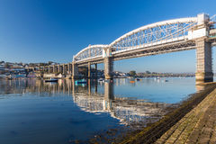 Saltash passage Plymouth Devon Royaltyfria Foton