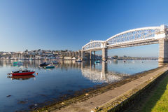 Saltash Passage Plymouth Devon. Royal Albert Bridge designed by Isambard Kingdom Brunel as seen from Saltash Passage Plymouth Devon England UK Europe Royalty Free Stock Photo