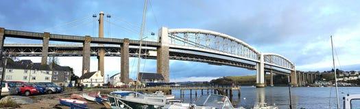 Saltash Tamar Bridge Cornovaglia Regno Unito Fotografie Stock