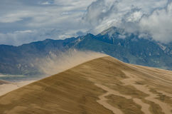 Saltation Off of Sand Dunes on Windy Day Stock Photo