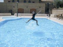 Saltatore felice dell'acqua immagine stock libera da diritti