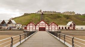 Saltburn码头、Saltburn由这海、Redcar和克利夫兰,英国 免版税图库摄影