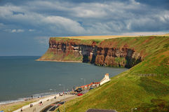 Saltburn Cliffs, Northern England stock photos