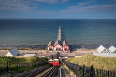 Saltburn funiculaire et pilier Image stock