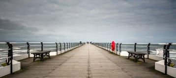 Saltburn molo North Yorkshire - Saltburn morzem - Zdjęcie Stock
