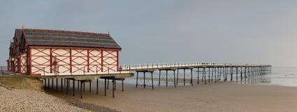 Saltburn molo UK - Północny Yorkshie - Zdjęcia Royalty Free