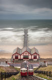 Saltburn Pier and Cliff Lift - Saltburn by the Sea - North Yorks Stock Photo