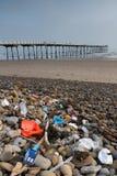 Saltburn Plastic Debris Stock Images
