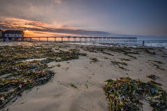 Saltburn Sands and Pier Stock Images