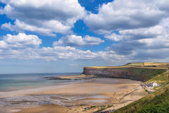 Saltburn  by the sea beach Stock Photography