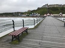 View of Saltburn from the Pier at Saltburn by the Sea Stock Photo