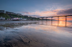 Saltburn at Sunset Royalty Free Stock Photos