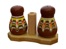 Saltcellar i pepperbox Obrazy Stock