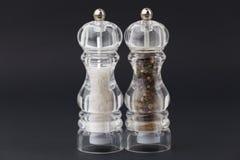 Saltcellar i pepperpot fotografia stock
