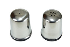 Saltcellar and pepper shaker Stock Photography