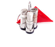 Saltcellar, pepperbox and napkins Royalty Free Stock Photography