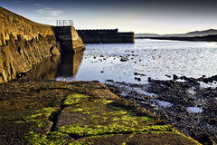 Saltcoats harbour sea access ramp Royalty Free Stock Photos