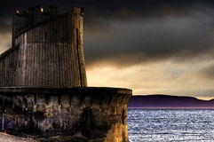 Saltcoats harbour tower Royalty Free Stock Photo