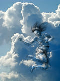 Salte al cielo Foto de archivo