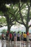 Salte a dança quadrada para as pessoas idosas em GUILIN, CHINA, ÁSIA Fotos de Stock