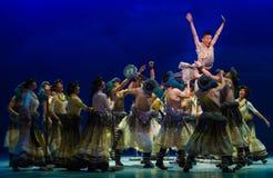 Salte ` de Cangyangjiacuo del drama de la danza del salto- `` Foto de archivo libre de regalías