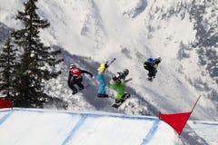 Salte el snowboard Fotografía de archivo