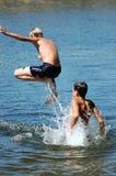 Salte en agua Imagen de archivo