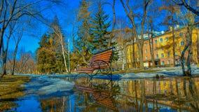 Salte en el bulevar Irkutsk, Rusia de la ciudad Fotografía de archivo libre de regalías