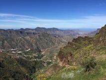 Salte en el top de la isla de Gran Canaria Foto de archivo