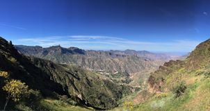 Salte en el top de la isla de Gran Canaria Imagenes de archivo