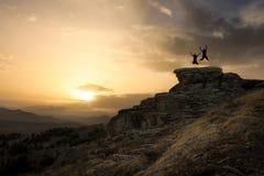 Salte en la roca Imagen de archivo